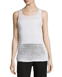 Chunky knit scoop neck tank white medium 3670623