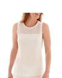 Liz Claiborne Crochet Tank Top