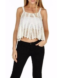 Maronie Crochet Au Lait Crop Top