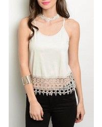 Must Have Crop Crochet Tank