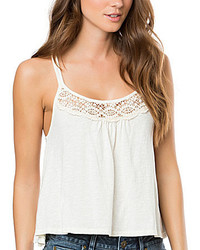O'Neill Patrick Crochet Lace Trimmed X Back Tank Top