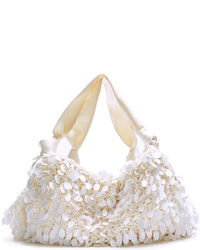 The Row Ascot Medium Crochet And Satin Tote