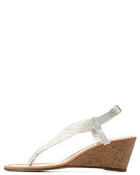 Charlotte Russe Twisted Crochet Thong Wedge Sandals