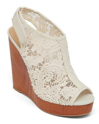 Lucky Brand Rezdah2 Crochet Wedge Sandals