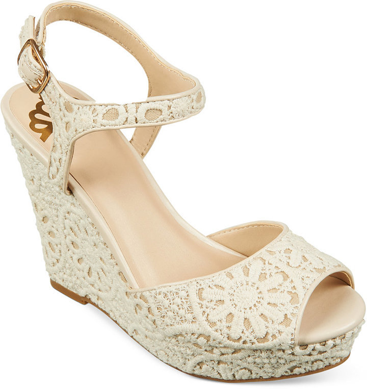 e291912f1d3 ... Fergalicious Ritzy Crochet Two Piece Platform Wedge Sandals ...