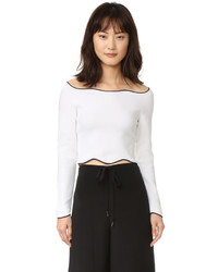 Cédric Charlier Cedric Charlier Cropped Long Sleeve Sweater