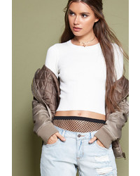 Forever 21 Cropped Ribbed Sweater