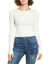 Dreamers by debut rib knit crop sweater medium 972234