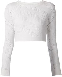 IRO Cropped Open Knit Sweater