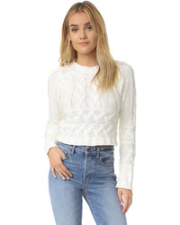 Knitz greenwich crop sweater medium 972231