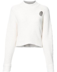 Alexander Wang Mock Neck Cropped Jumper