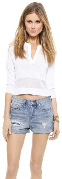 Alice + Olivia Shena Crop Sweater