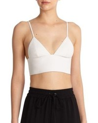 Alexander Wang T By Leather Cropped Top