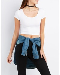 Charlotte Russe Caged Back Crop Top