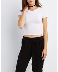 Charlotte Russe Crew Neck Crop Top
