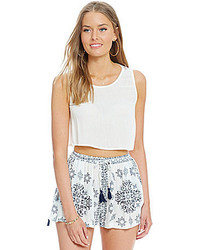 Chelsea & Violet Cropped Embellished Sleeveless Tank
