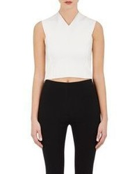 Rag & Bone Crisscross Back Crop Top White