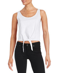 Splendid Cropped Tie Tank Top