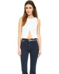 Alice + Olivia Cross Front Crop Top