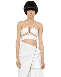 Cut Out Silk Cady Crop Top