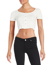 Design Lab Lord Taylor Ribbed Crop Top