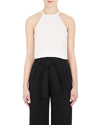 A.L.C. Devon Crepe Crop Top