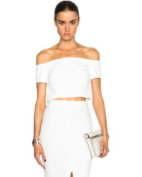 Nicholas Double Bonded Off The Shoulder Cropped Top