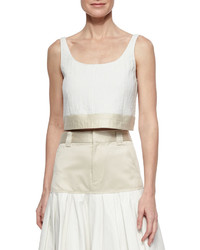 Rag & Bone Elsa Two Tone Crop Top White