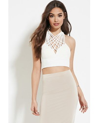 Forever 21 Reverse Web We Weave Crop Top