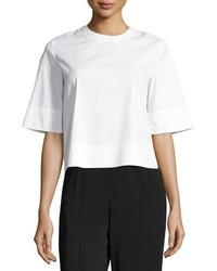 A.L.C. Frankie Laced Stretch Poplin Crop Top