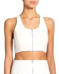Elizabeth and James Harloe Zip Racerback Cropped Top