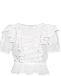 Etoile Isabel Marant Isabel Marant Toile Nathan Lace Insert Cotton Voile Top