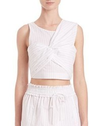3.1 Phillip Lim Knotted Front Cropped Tank Top
