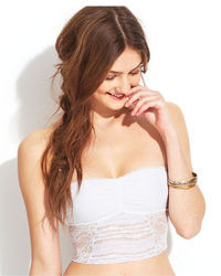 Free People Lace Cropped Tube Top