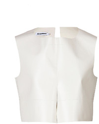 Jil Sander Leather Crop Top