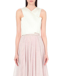 Maje Londre Crepe Cropped Top