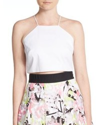 Milly Audrey Halter Cropped Top
