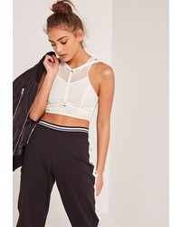 Missguided Harness Overlay Crop Top White