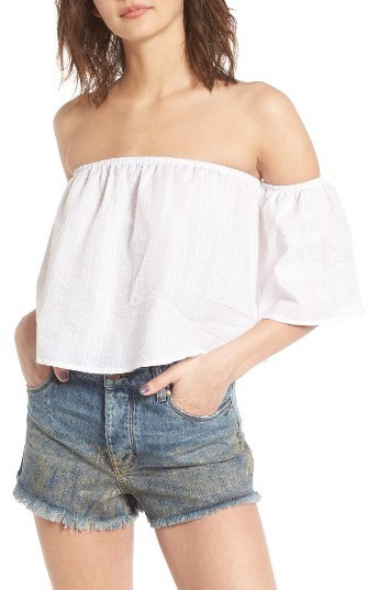 Socialite Off The Shoulder Crop Top