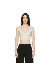 Ernest Leoty Off White Jade Crop Top