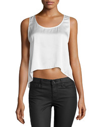 philosophy Cross Back Cropped Tank White Star