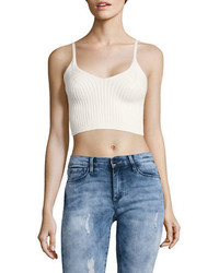 Free People Ribbed Knit Sleeveless Cropped Top