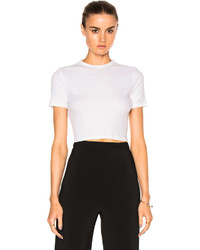 Rosetta Getty Cropped Short Sleeve T Shirt