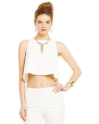 5ad554478bf No Brand Belle Badgley Mischka Nadine Zip Back Crop Top Out of stock · Lucy  Paris Shell Cropped Tank