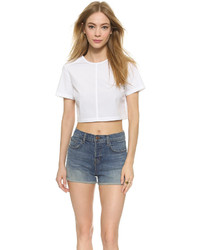Marc by Marc Jacobs Short Sleeve Crop Top