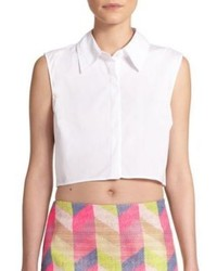 Milly Sleeveless Cropped Top