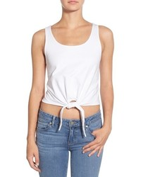 Splendid Knot Front Cotton Crop Top