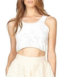 Stella And Jamie Oasis Cropped Tank Top White