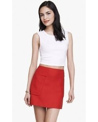 Express Stretch Cotton Cropped Tank Engine Red