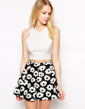 87daadf79be Fashion Union Structured Crop Top, $23 | Asos | Lookastic.com